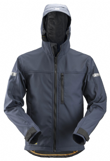 Snickers 1229 AllroundWork Softshell Jacket with Hood (Navy/Black)